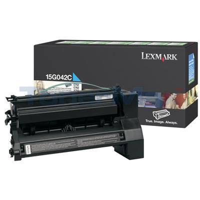 LEXMARK C752 PRINT CARTRIDGE CYAN RP 15K